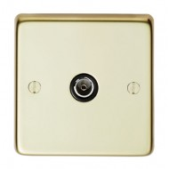 1 gang tv polished brass