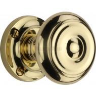 Aylesbury Period Door Knobs in Polished Brass