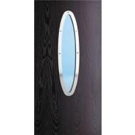 shaped long elliptical vision panel