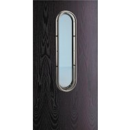 stainless steel large vision panel with handle option