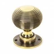 Aged Brass Beehive Mortice Or Rim Door Knobs