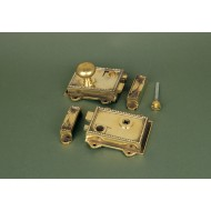 regency rim latch brass