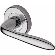 Sutton Lever Handles on Rose in Polished Chrome