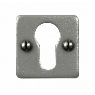 Stonebridge Hand Forged Steel Square Euro Escutcheons