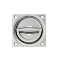 silver flush ring door handles