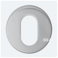oval profile lock escutcheon satin chrome