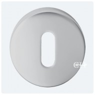 keyhole lock escutcheon satin chrome