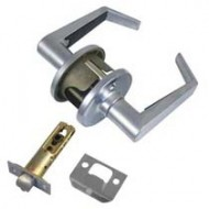 satin chrome lever handles to replace knob sets