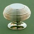 large beehive cupboard knob nickel