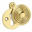 Croft Reeded Escutcheon in Brass Bronze Chrome Nickel
