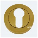 Euro Profile Lock Escutcheon Polished Brass