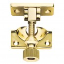 Brighton Pattern Sash Fastener in Brass