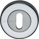 Key Hole Oval or Euro Escutcheon Various Finishes