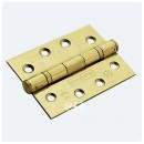 25yr PVD Brass 100x76mm  Ball Bearing Hinge