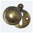 British Handmade Reeded Escutcheon Brass Bronze Nickel Chrome