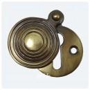 British Handmade Reeded Escutcheon Brass Bronze Nickel Chrome