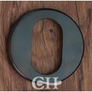 British Handmade Plain Escutcheon in Chrome Nickel Brass or Bronze