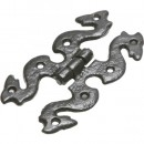 Kirkpatrick Antique Black or Pewter Ornate H Hinge