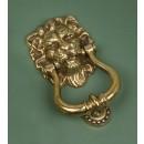 Aged Brass Lions Head Door knocker